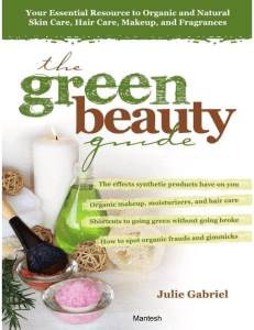 'The GREEN BEAUTY GUIDE