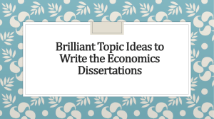 Brilliant Topic Ideas To Write The Economics Dissertations