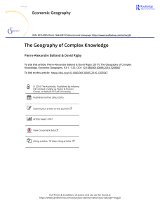 The Geography of Complex Knowledge