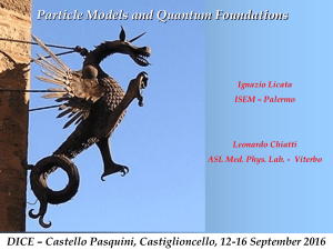 Particle models and Quantum Foundations