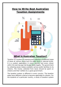 How to Write Best Australian Taxation Assignments