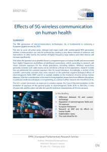 Effects of 5G wireless communication EPRS BRI(2020)646172 EN