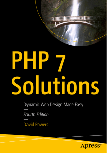 PHP 7 solutions dynamic design 4th Ed.