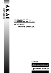 akai s3200xl manual
