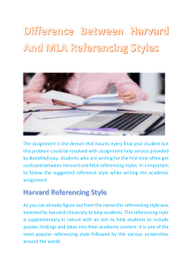 Difference Between Harvard And MLA Referencing Styles