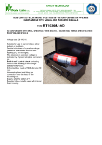 Non Contact Voltage Detector data sheet