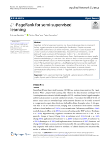 Bautista2019 Article Lγ-PageRankForSemi-supervisedL