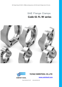 SAE FLANGE CLAMPS code 61 FL-W series