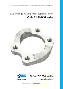 SAE code 61 FLANGE CLAMPS with metric tapped hole FL-WM series