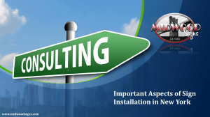 Important Aspects of Sign Installation in New York