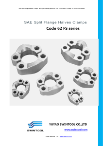 4. SPLIT FLANGE HALVES CLAMPS code 62 FS series