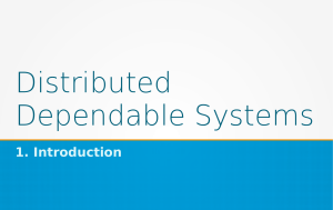 Introduzioen al costo di Distributed Dependable Systems