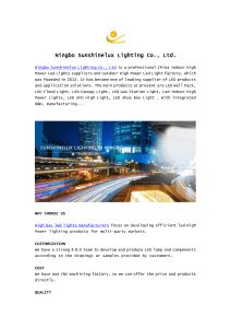 Ningbo Sunshinelux Lighting Co., Ltd