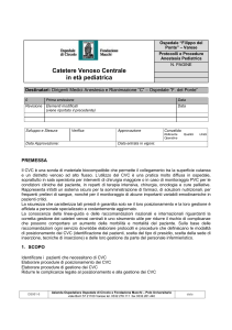Catetere Venoso Centrale in eta pediatrica