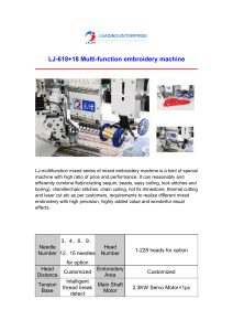 LJ-618+18 Multi-function embroidery machine
