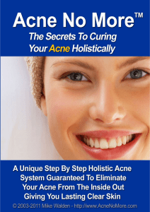 Acne No More™ by Mike Walden PDF EBook Free Download